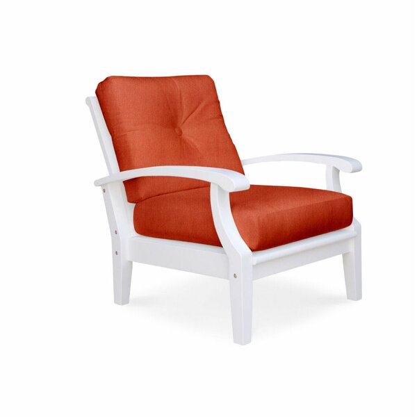 Lowery White Deep Seating Club Chair by Rosecliff Heights