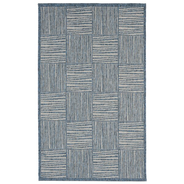 Beck Blue Indoor/Outdoor Area Rug by Ebern Designs