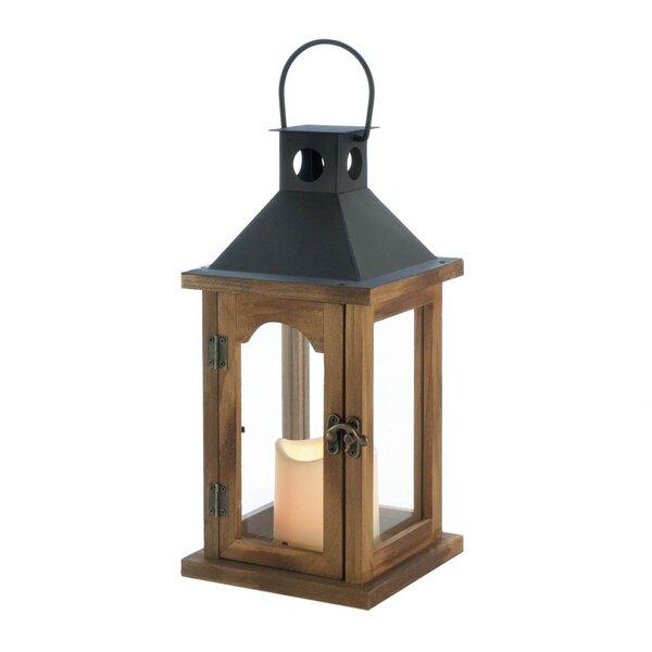 Simple Rustic Wood Lantern by Breakwater Bay