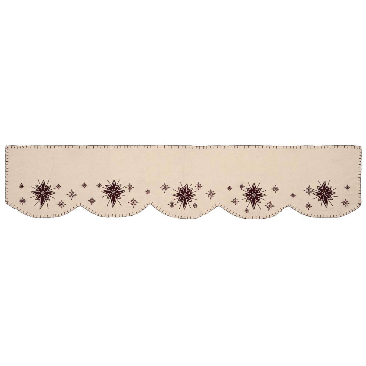 VHC Brands North Star Holiday Christmas Decor Mantle Scarf | Wayfair
