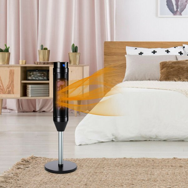 1,500 Watt Portable Electric Convection Tower Heater With Remote Control By Setemi
