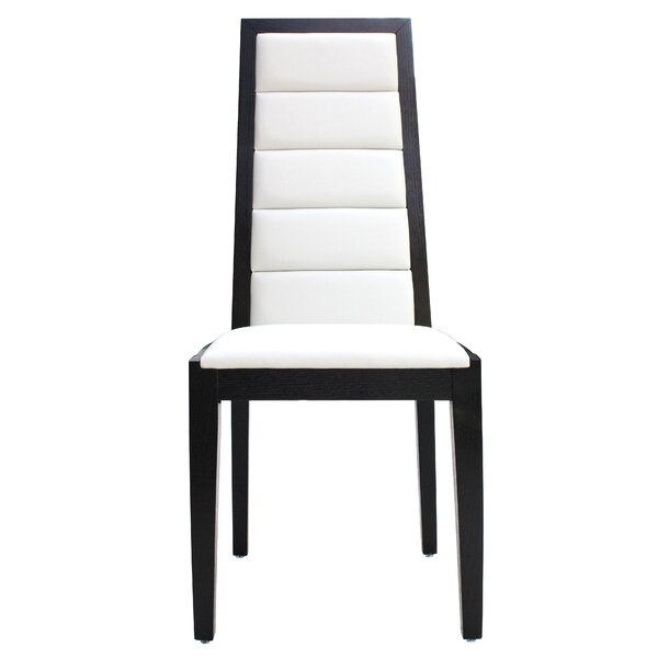 Venus Genuine Leather Upholstered Dining Chair (Set of 2) by Sharelle Furnishings