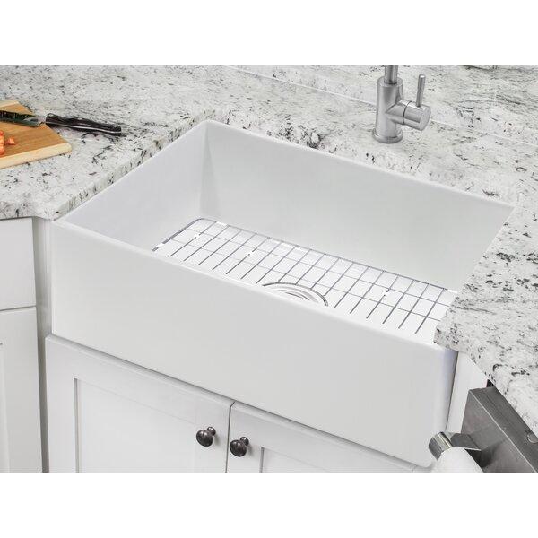 Fireclay 24 L x 18 W Apron Kitchen Sink with Basket Strainer