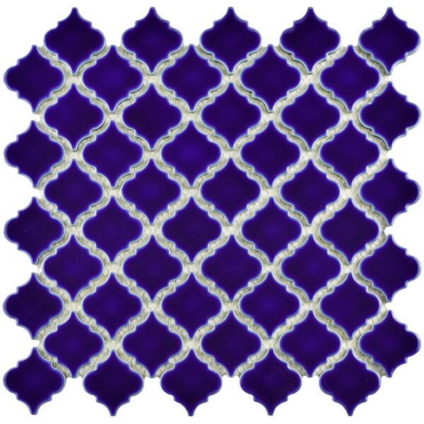 Pharsalia 12.38 x 12.5 Porcelain Mosaic Floor and Wall Tile in Cobalt Blue by EliteTile