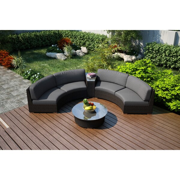 Hodge 4 Piece Sunbrella Sofa Set with Cushions by Rosecliff Heights