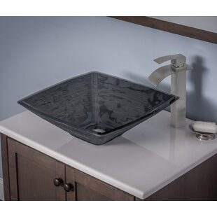 Frosted Glass Vessel Sink | Wayfair