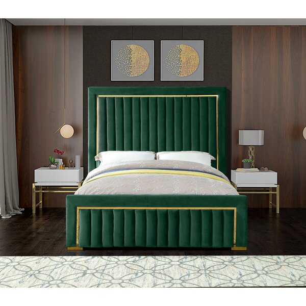 Elberta Upholstered Sleigh Bed by Everly Quinn