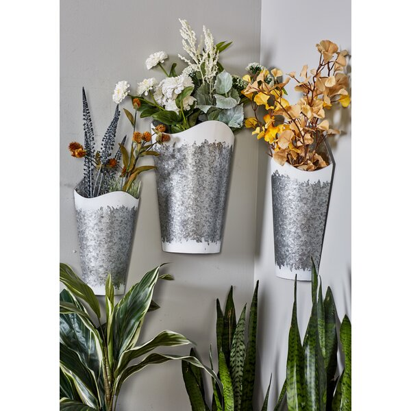 Farmhouse Conical 3-Piece Wall Planter Set by Cole & Grey
