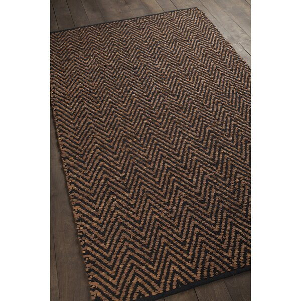 Salley Hand-Woven Brown/Black Area Rug by Brayden Studio
