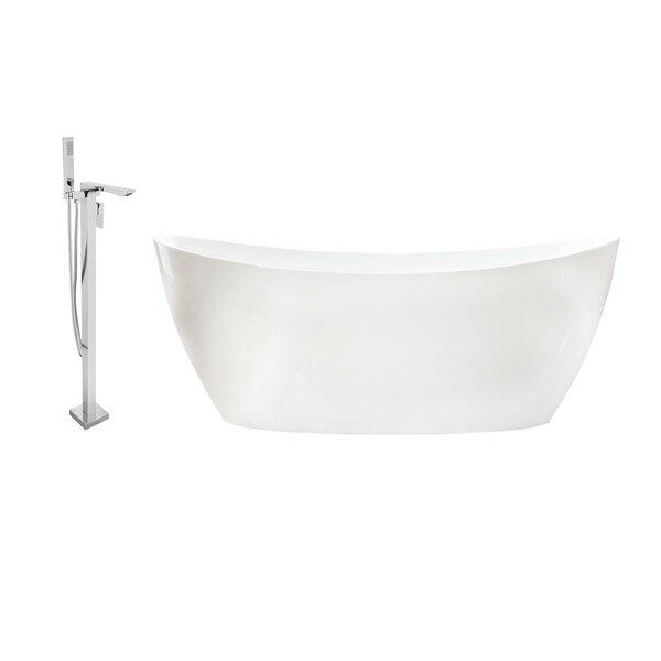 59 x 32 Freestanding Soaking Bathtub by Streamline Bath