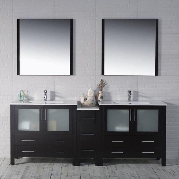 Mance 84 Double Bathroom Vanity Set with Mirror