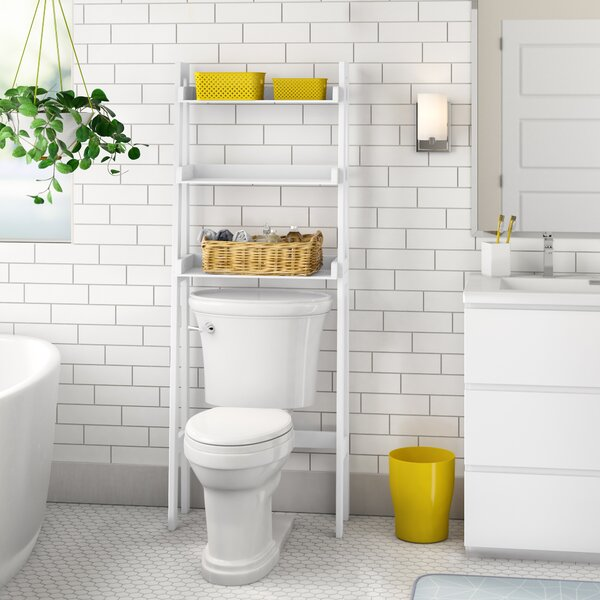 Hoschton 24.9 W x 61.5 H x 9.88 D Free-Standing Over-the-Toilet Storage