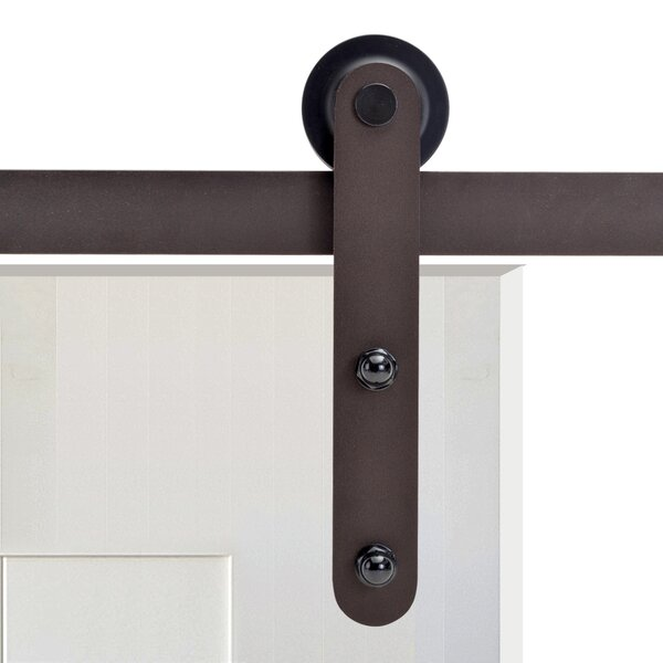 Basic Straight Strap Sliding Door Track Barn Door Hardware by Calhome