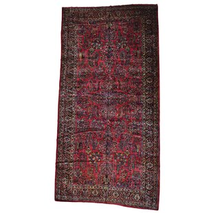 One-of-a-Kind Disanto Persian Sarouk Mint Cond Hand-Knotted Red Area Rug