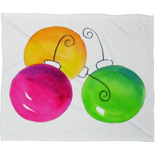 Laura Trevey Holiday Plush Fleece Throw Blanket by Deny Designs