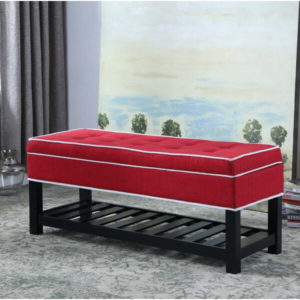 Chastain Piping Tufted Shoe Upholstered Storage Bench by Alcott Hill