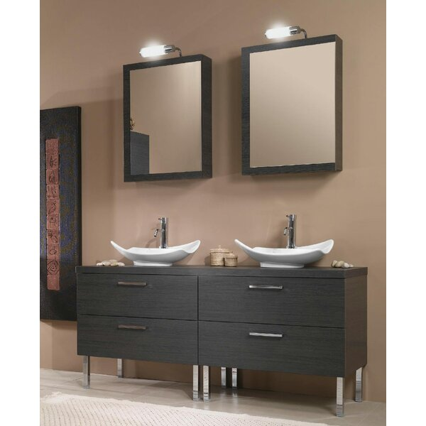 Aurora 61 Double Bathroom Vanity Set with Mirror by Iotti by Nameeks