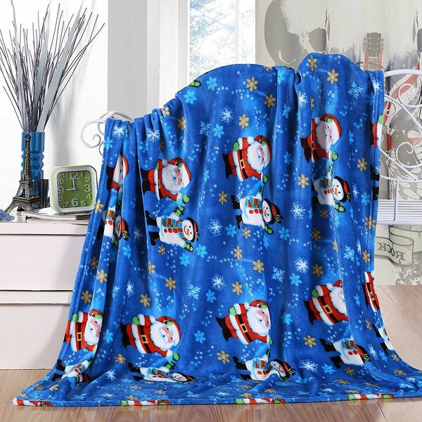 Adcock Christmas Santa Fleece Throw Blankets - Assorted Styles by The Holiday Aisle