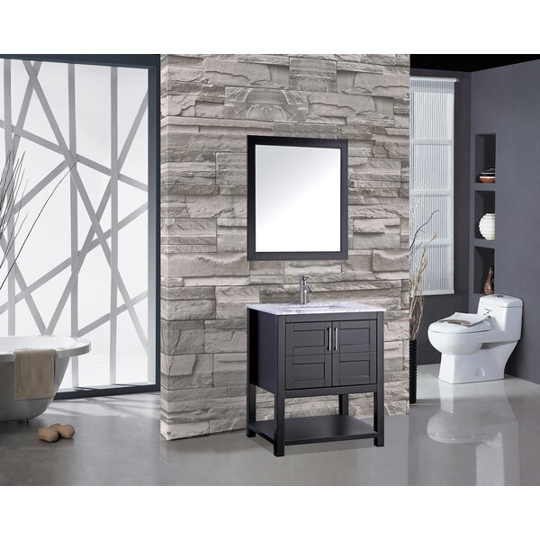 Rines 30 Single Bathroom Vanity Set with Mirror by Mercer41