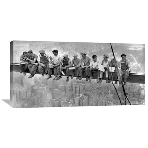 'New York Construction Workers Lunching on a Crossbeam, 1932' by Charles C. Ebbets Photographic Print on Wrapped Canvas by Global Gallery