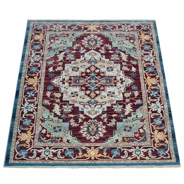 Mcmullan Oriental Aqua/Red/Gold Area Rug by Charlton Home