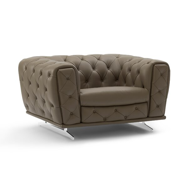 Bloomsburg Leather Armchair By Orren Ellis