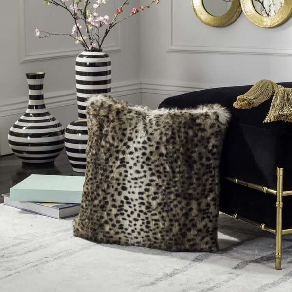 Ripon Faux Leopard Throw Pillow by House of Hampton