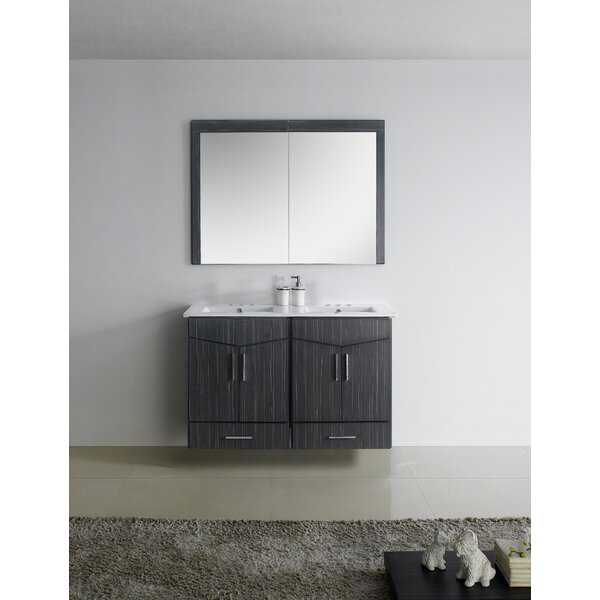 Keels 48 Wall Mounted Double Bathroom Vanity by Orren Ellis