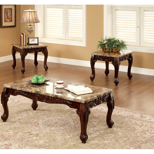 Albertus 3 Piece Coffee Table Set by Astoria Grand