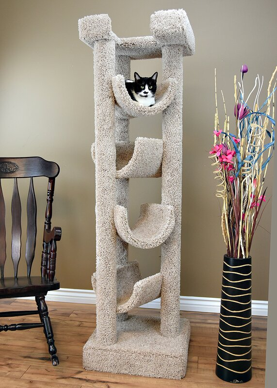72 Inch 5 LevelTall and Skinny Cat Tree For Small Spaces