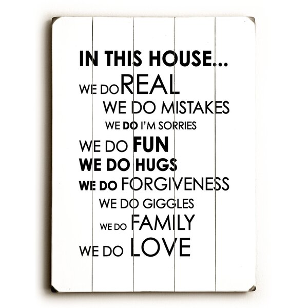 In This House by Amanada Catherine Textual Art on Plaque by Artehouse LLC