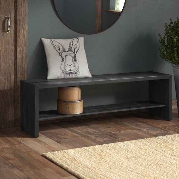Arocho Rustic Solid Reclaimed Wood Storage Bench by Loon Peak