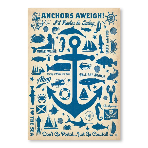 Anchor Pattern Print Vintage Advertisement by Breakwater Bay