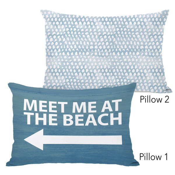 Demelza Meet Me at the Beach Wood and Isla 2 Piece Lumbar Pillow Set by Highland Dunes