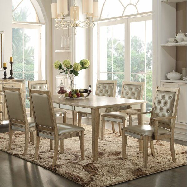 Lynne 7 Pieces Dining Set by House of Hampton