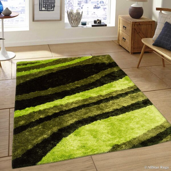 Hand-Tufted Green Area Rug by AllStar Rugs