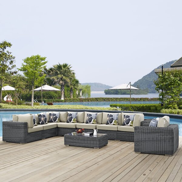 Keiran 7 Sunbrella Sectional Set With Cushions By Brayden Studio by Brayden Studio Great price
