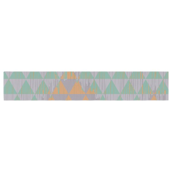Nika Martinez Ikat Geometry Table Runner by East Urban Home