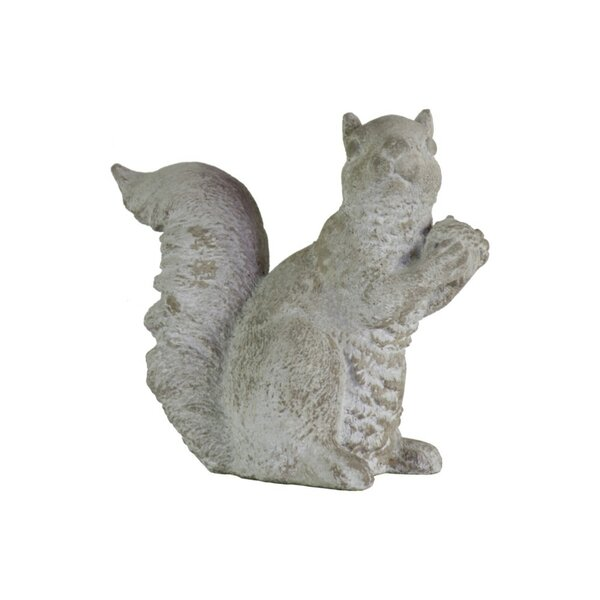 Dawley Cemented Squirrel with Hand over Hand Figurine by Charlton Home