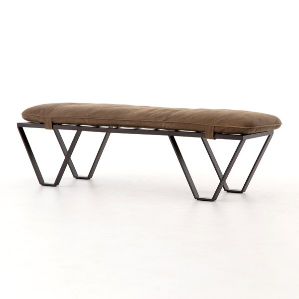 Stefania Leather Bench by 17 Stories