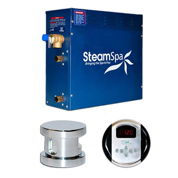 SteamSpa Oasis 4.5 KW QuickStart Steam Bath Generator Package by Steam Spa
