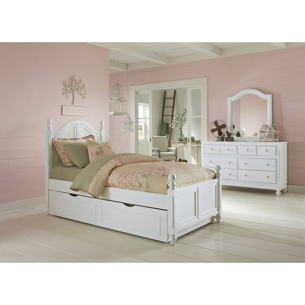 Javin Twin Panel Bed with Trundle by Harriet Bee