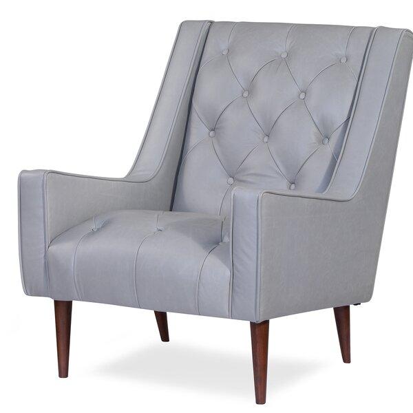 Home & Outdoor Villacorta Leather Armchair
