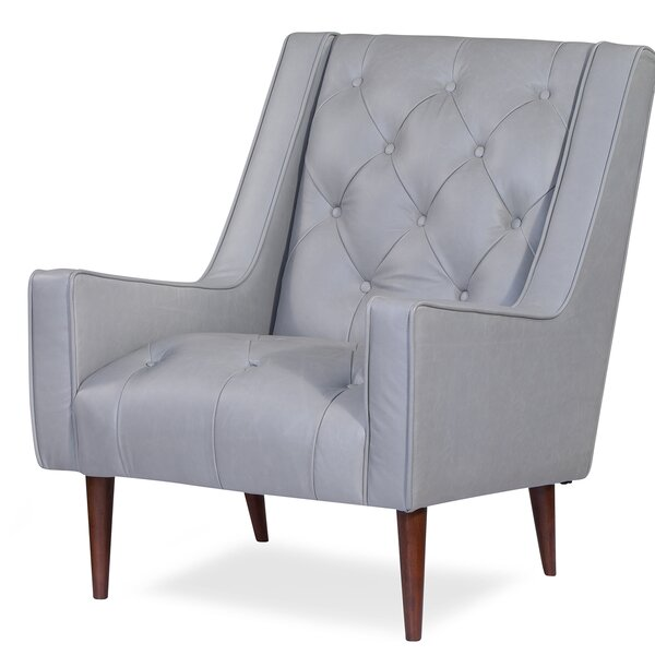 Villacorta Leather Armchair By Brayden Studio