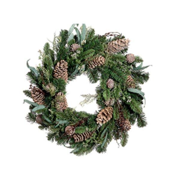 Eucalyptus Cedar Pine Artificial Christmas Wreath by Tori Home