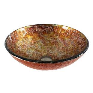 Best Tempered Glass Circular Vessel Bathroom Sink ByDawn USA
