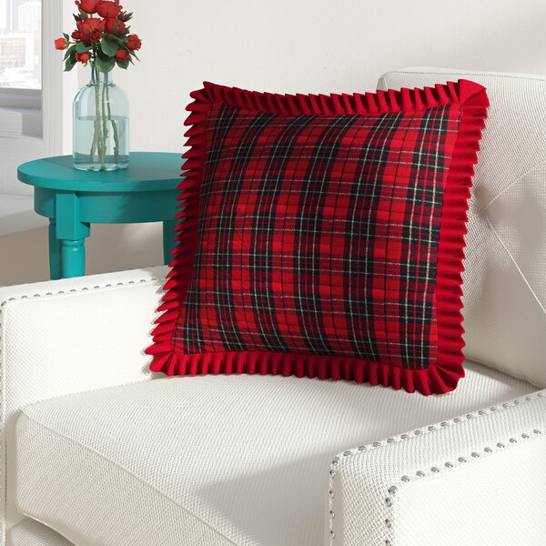 Patil Holiday Plaid Throw Pillow by August Grove