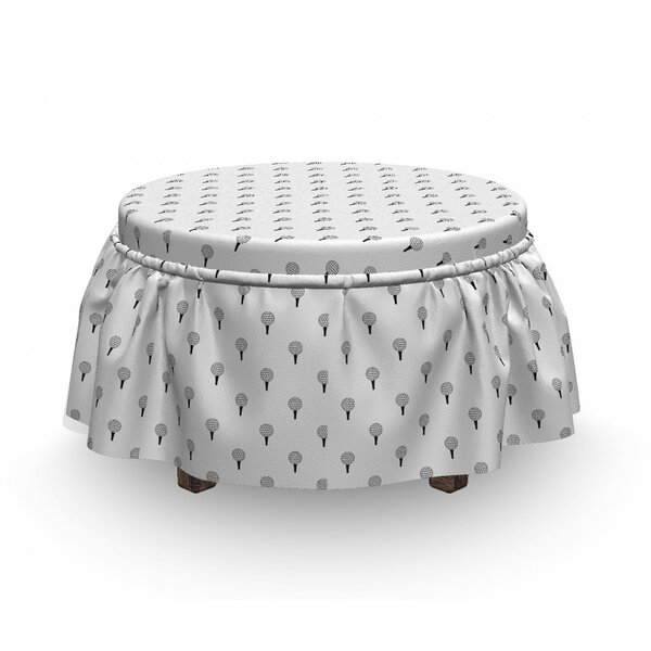 Repetitive Ball Ready To Hit Ottoman Slipcover (Set Of 2) By East Urban Home