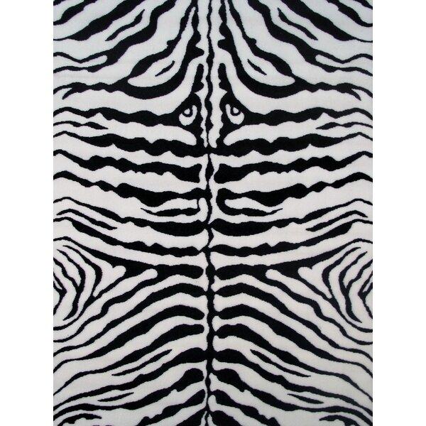 Fun Time White Zebra Skin Area Rug by Fun Rugs