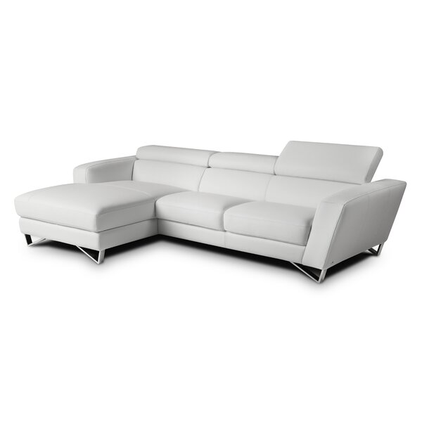 Downingtown Leather Sectional with Ottoman by Wade Logan